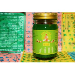 Зелёный тайский бальзам Mho Shee Woke с болеутоляющим эффектом 100 гр.