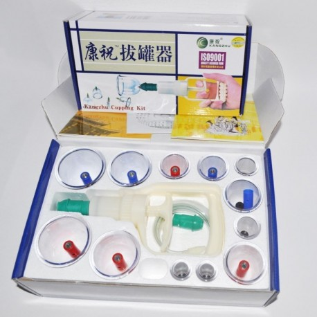 "Медицинские вакуумные банки ""Kangzhu Cupping Kit"" - 12 шт."