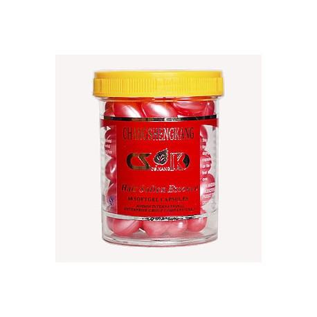 """Витамины в капсулах от перхоти (розовые) """"Сhangshengkang"""", 60 шт."""